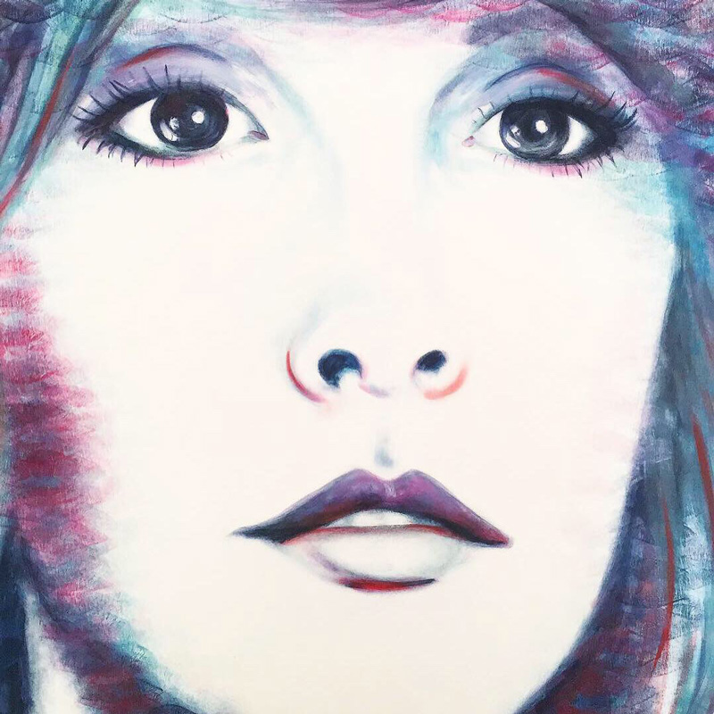 Stevie Nicks portrait by Lipstick Lex