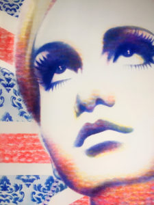 Twiggy portrait by Lipstick Lex